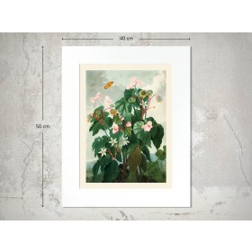Naturalis Unlimited art print 30x40 in passe-partout 40x50 Temple of Flora - III