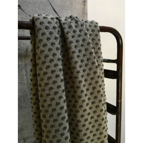 Stapelgoed Plaid Dots Army 100x150cm