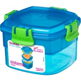 SISTEMA LUNCH SNACKDOOS SNACKS BLAUW 400ML