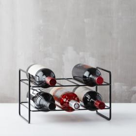 Point Virgule wire wijnrek voor 6 fl zwart