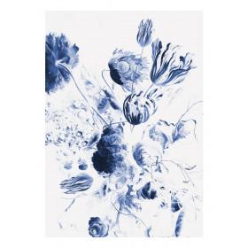 KEK Amsterdam Fotobehang Royal Blue Flowers II, 4 vellen