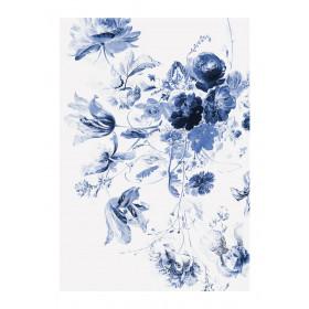 KEK Amsterdam Fotobehang Royal Blue Flowers III, 4 vellen