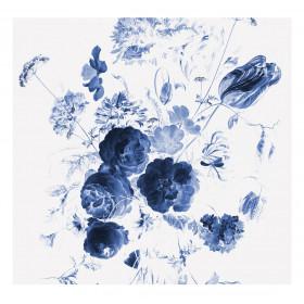 KEK Amsterdam Fotobehang Royal Blue Flowers I, 6 vellen