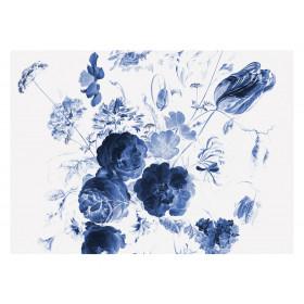 KEK Amsterdam Fotobehang Royal Blue Flowers I, 8 vellen