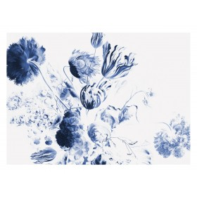 KEK Amsterdam Fotobehang Royal Blue Flowers II, 8 vellen