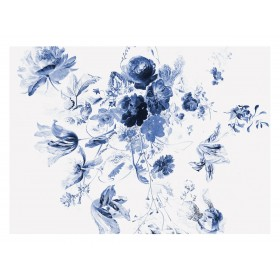 KEK Amsterdam Fotobehang Royal Blue Flowers III, 8 vellen