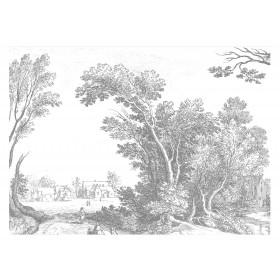 Kek Amsterdam Behang Engraved Landscape V