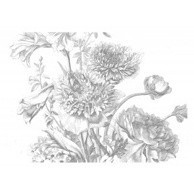 Kek Amsterdam Behang Engraved Flowers IV 389.6x280cm