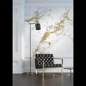 Kek Amsterdam Behang Marble wit-goud 8 banen 389,6x280