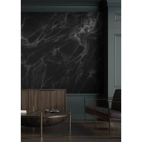 Kek Amsterdam Behang Marble zwart-grijs 8 banen 389,6x280