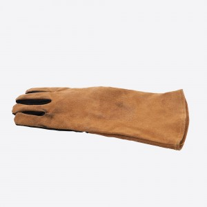 Point Virgule BBQ Handschoen links bruin en zwart leder 42x40