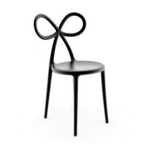 Qeeboo Ribbon Chair Black - single pack