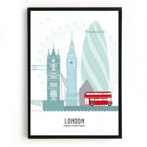 Mevrouw Emmer Poster Londen B2 kleur-1000000000000000-21